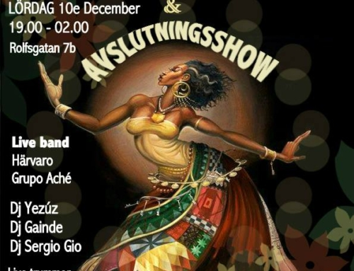 10 Dec 19:00-02:00  Afro-latin Party & Avslutningsshow